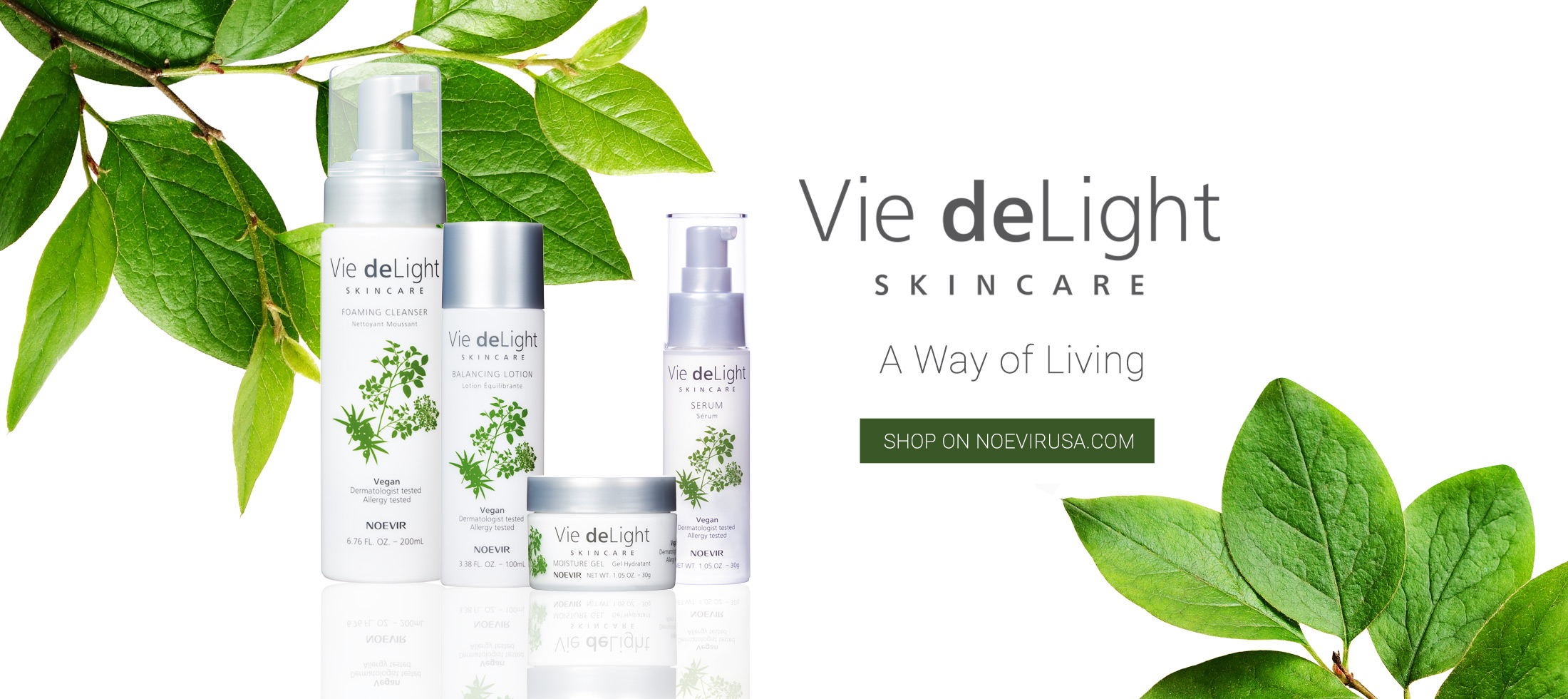 Vie deLight SKINCARE, The way of life. Shop on NoevirUSA.com